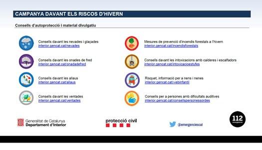 CAMPANYA DE PREPARACIÓ I SENSIBILITZACIÓ DAVANT DELS RISCOS D'HIVERN