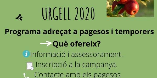 SERVEI DE GESTIÓ DE LA CAMPANYA AGRÀRIA DE L'URGELL 2020